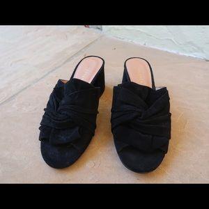 Halogen Mule Black Heels